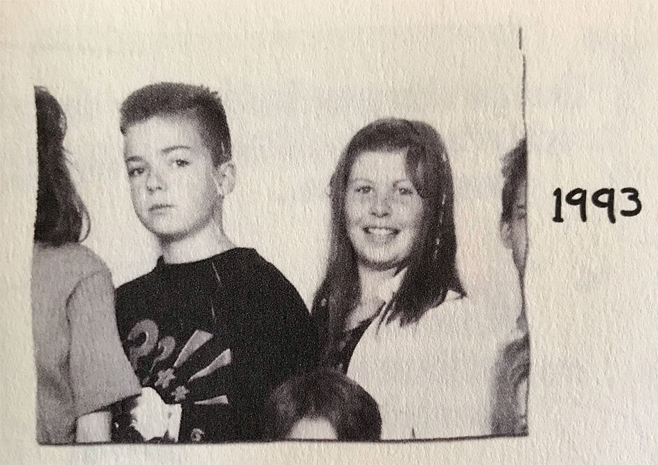 Lotta and me in 1993
